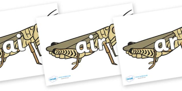 Phase 3 Phonemes on Grasshoppers - Phonemes, phoneme, Phase 3, Phase three, Foundation, Literacy, Letters and Sounds, DfES, display