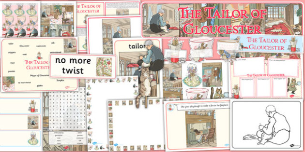 The Tailor of Gloucester Resource Pack - tailor, gloucester, resource