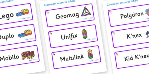 Lollipops Themed Editable Construction Area Resource Labels - Themed Construction resource labels, Label template, Resource Label, Name Labels, Editable Labels, Drawer Labels, KS1 Labels, Foundation Labels, Foundation Stage Labels
