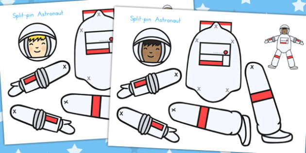 Split Pin Astronaut - Astronauts, Space, Activity, Activities