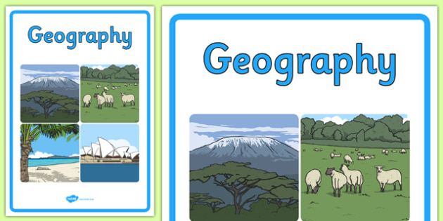 Curriculum Geography Book Cover - book cover, front page, title page, geography, Australian Curriculum, labels, Australia