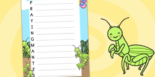Minibeasts Acrostic Poem Praying Mantis - poem, poetry, templates