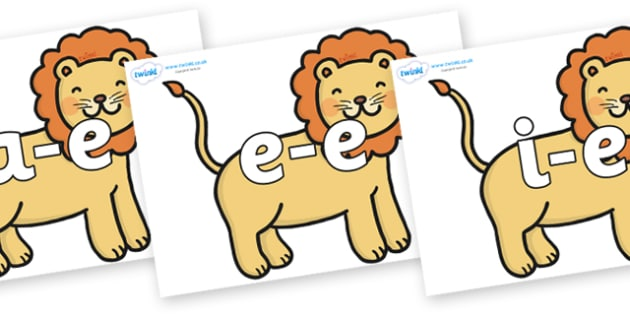 Modifying E Letters on Lions - Modifying E, letters, modify, Phase 5, Phase five, alternative spellings for phonemes, DfES letters and Sounds