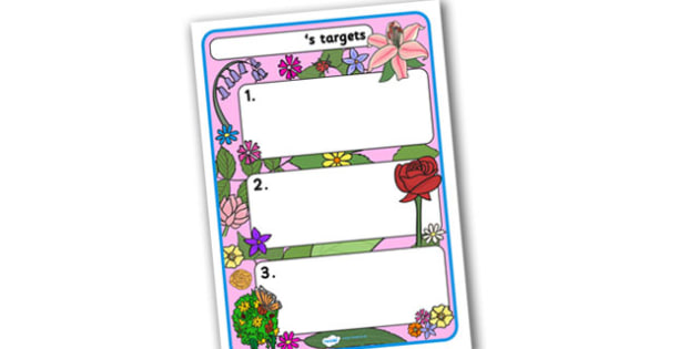 Themed Target Sheets Flowers - Target Sheets, Themed Target Sheets, Flower Target Sheets, Flower Themed, Flower Themed Target Sheets