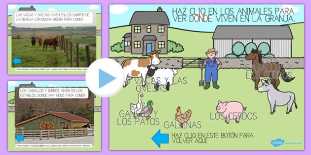 ¿Dónde duermen los animales? PowerPoint-Spanish