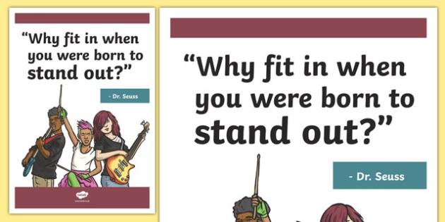 Dr Seuss Inspirational Classroom Quote Display Poster - usa, america, inspirational quote, display, motivation, inspiration, dr seuss