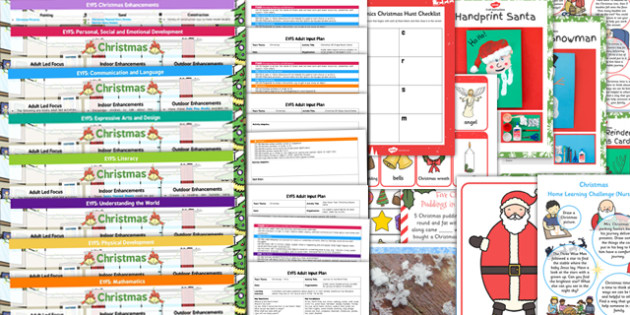 EYFS Christmas Themed Lesson Plan Enhancement Ideas and Resources Pack - christmas, lesson plan