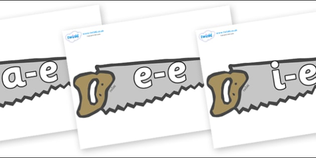 Modifying E Letters on Saws - Modifying E, letters, modify, Phase 5, Phase five, alternative spellings for phonemes, DfES letters and Sounds