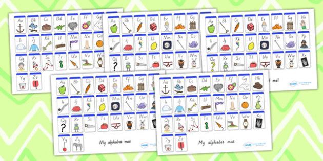 A-Z Alphabet Mat - A-Z, alphabet, letters, letter mat, a-z mat