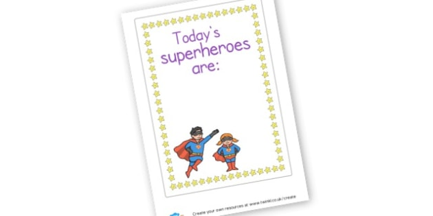 superhero - display lettering - Superheroes Primary Resources, superhero, role play, visual aids