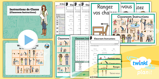 PlanIt - French Year 3 - All About Me Lesson 1: Classroom Instructions Lesson Pack - french, languages, instructions, classroom, activity