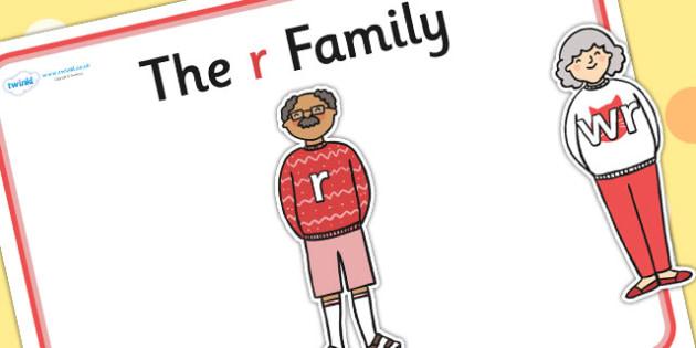 R Sound Family Cut Outs - sound families, sounds, cutouts, cut