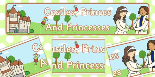 Castles Princes and Princesses Display Banner - display, banner