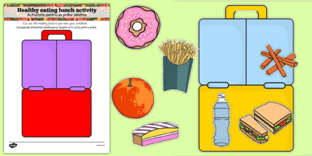 Healthy Eating Lunch Activity Romanian Translation - romanian, healthy, healthy eating, sort, activity, fruit, game, how to eat healthy, vegetable, healthy snack, lunch, snack time, snack, food, sorting