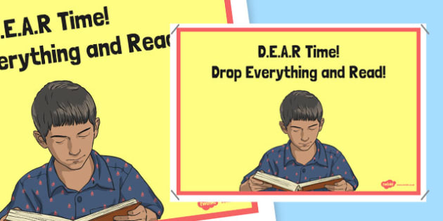 D.E.A.R Time Poster - irish, gaeilge, reading, classroom, DEAR time, english, library, books, read, display, poster