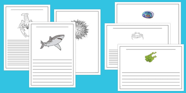 Under the Sea Writing Frames