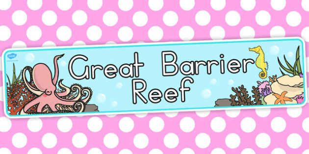 Great Barrier Reef Display Banner - australia, display, banner