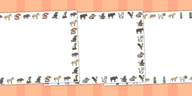 Australia Chinese New Year Landscape Page Borders - page border, writing frame, chinese new year, new year borders