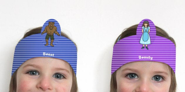 Beauty and the Beast Role Play Headbands - stories, role play