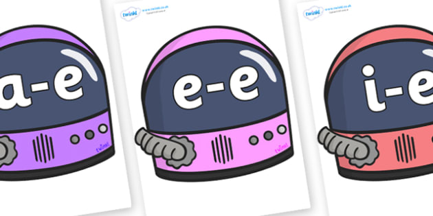 Modifying E Letters on Astronaut Helmets - Modifying E, letters, modify, Phase 5, Phase five, alternative spellings for phonemes, DfES letters and Sounds