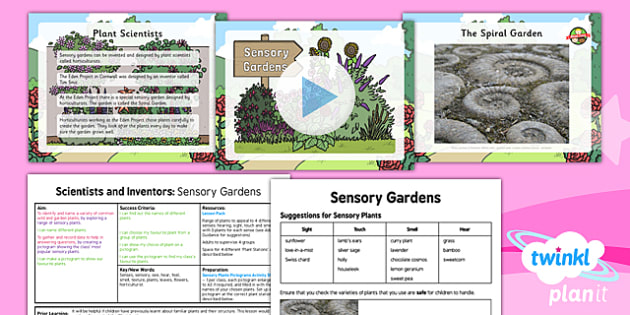 PlanIt - Science Year 1 - Scientists and Inventors Lesson 3: Sensory Gardens Lesson Pack - plants, senses, pictogram