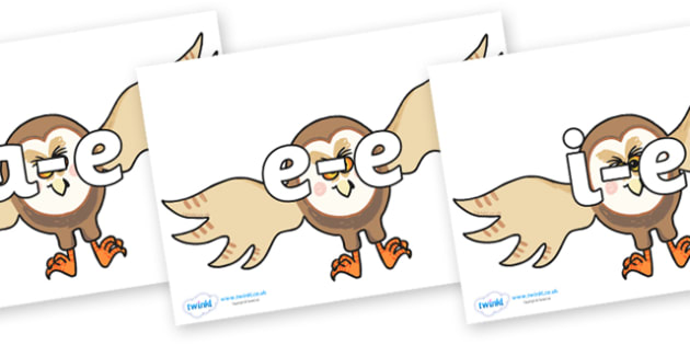 Modifying E Letters on Hullabaloo Owl to Support Teaching on Farmyard Hullabaloo - Modifying E, letters, modify, Phase 5, Phase five, alternative spellings for phonemes, DfES letters and Sounds