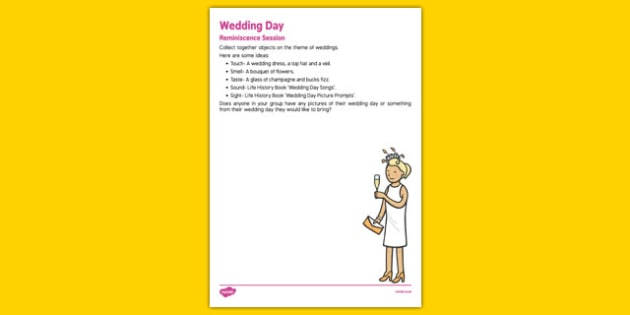 Elderly Care Life History Book Wedding Day Reminiscence Session - Elderly, Reminiscence, Care Homes, Life History Books
