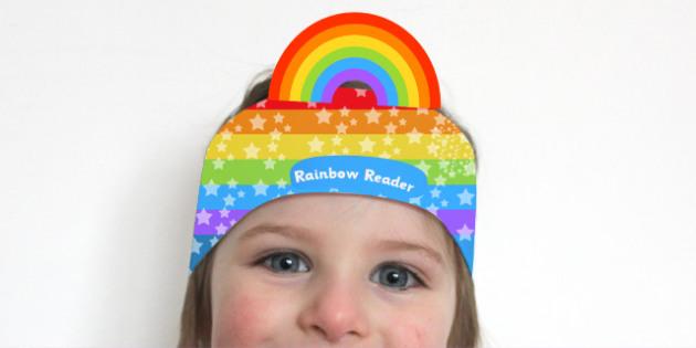 Rainbow Reader Award Headband - reading, reading award, award