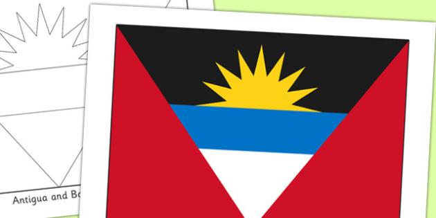 Antigua and Barbuda Flag Display Poster - countries, geography