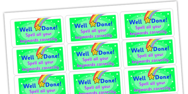 Spell All Your Keywords Correctly Stickers - stickers, printable stickers, marking stickers, work marking stickers, spell all your keywords correctly