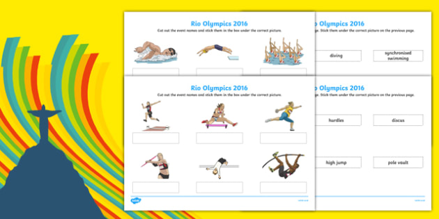 Rio Olympics 2016 Events Matching SEN Activity Sheet Pack, worksheet