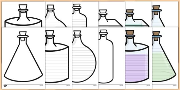 Potion Bottle Writing Frames - potion bottle, writing frames, magic, potions, magic potions, bottle