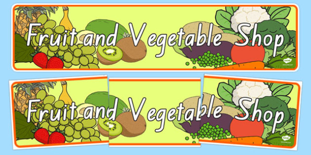 New Zealand Fruit and Vegetable Shop Role Play Banner