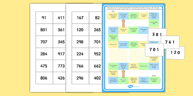 Place Value Board Game - numeracy, maths, games, values, game
