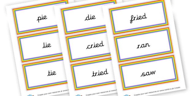 ie Words and High Frequency Words Spelling Flashcards - Spelling Strategies Primary Resources, grammar, aids, handwriting