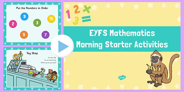 EYFS Mathematics Morning Starter Activities PowerPoint