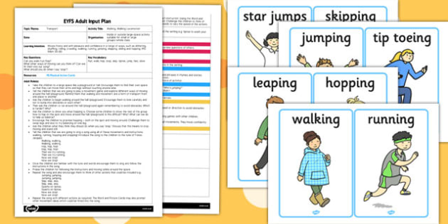 Walking Walking Locomotion EYFS Adult Input Plan and Resource Pack