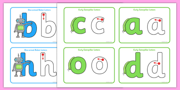 Letter Formation Cards - letter formation, cards, letter, formation