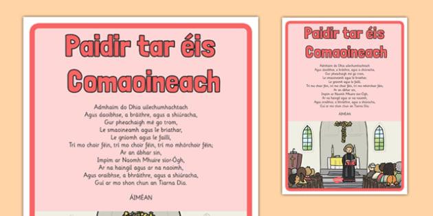 Céad Fhaoistin, An Fhaoistin Choiteann (Confetior), Display Poster - Céad Fhaoistin, First Confession, Penance, sacrament, display, prayer, paidir, religion, preparation, gaeilge, mass, poster, sacred space