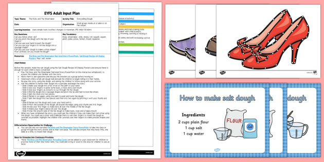 EYFS Storytelling Dough Adult Input Plan and Resource Pack - The Elves and the Shoemaker, traditional tales, Christmas, story, literacy, pd, motor skills, fine m
