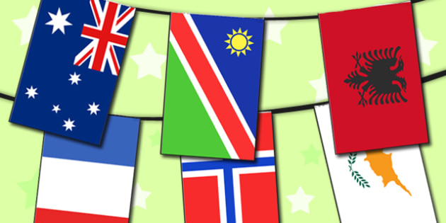 Flag Bunting - flags, bunting, display bunting, display flags