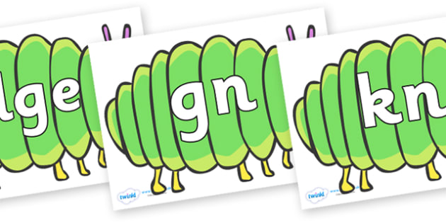 Silent Letters on Fat Caterpillars to Support Teaching on The Very Hungry Caterpillar - Silent Letters, silent letter, letter blend, consonant, consonants, digraph, trigraph, A-Z letters, literacy, alphabet, letters, alternative sounds
