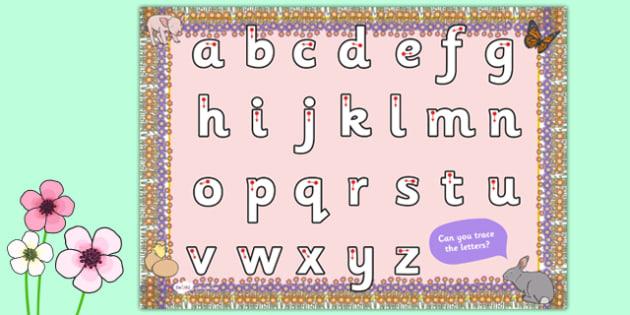 Spring Themed Letter Writing Worksheet - spring, letter, writing