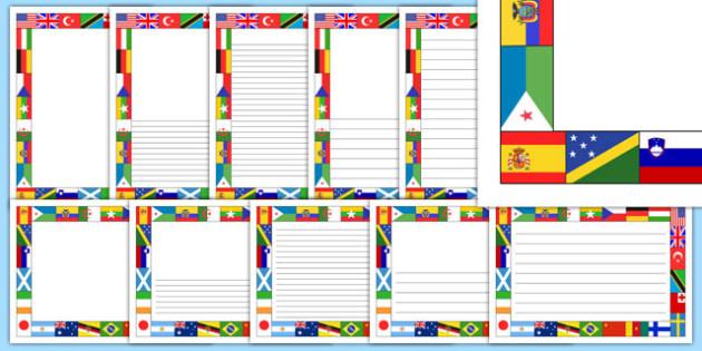 World Flag Page Borders - page borders, flag, world, world flag