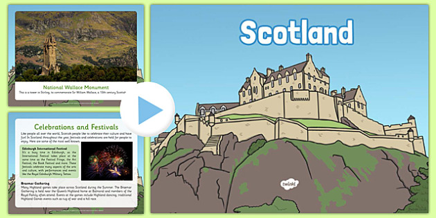 Scotland Information Powerpoint - Scottish, geography, UK, Britain, British, local, knowledge