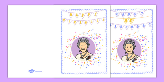 The Queen's 90th Birthday Card - the queen's 90th birthday, the queen's birthday, queen, birthday card, birthday, card