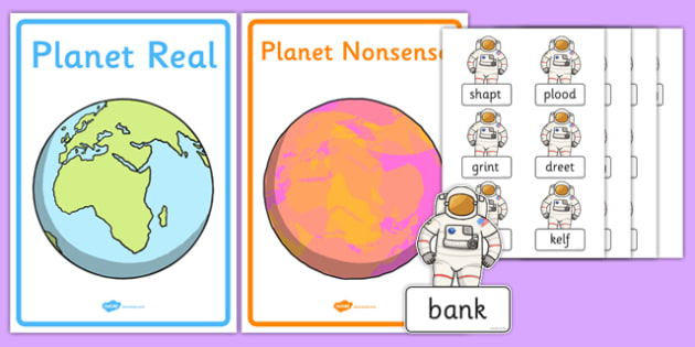 Phase 4 Real and Nonsense Words Sorting Activity Sheet, worksheet