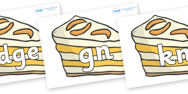 Silent Letters on Peach Desserts to Support Teaching on The Lighthouse Keeper's Lunch - Silent Letters, silent letter, letter blend, consonant, consonants, digraph, trigraph, A-Z letters, literacy, alphabet, letters, alternative sounds