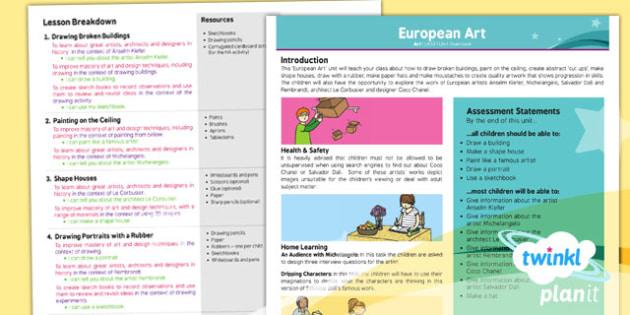 PlanIt - Art LKS2 - European Art Planning Overview - planit, art, unit