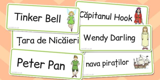 Peter Pan, cartonase cu imagini si cuvinte din poveste, poze , Romanian